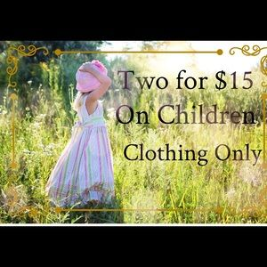 Other - 👛 Any items of children clothing 2 for $15